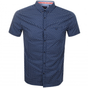Superdry Premium Short Sleeved Shirt Navy